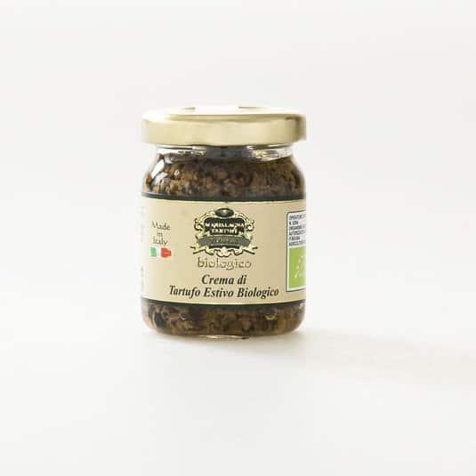 Black summer truffle in organic cream