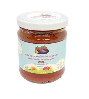 Tomato purée with eggplants