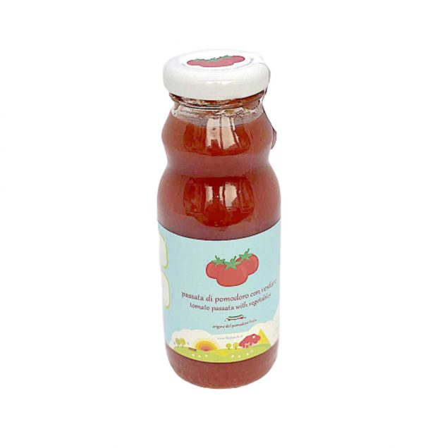 Tomato purée with vegetables