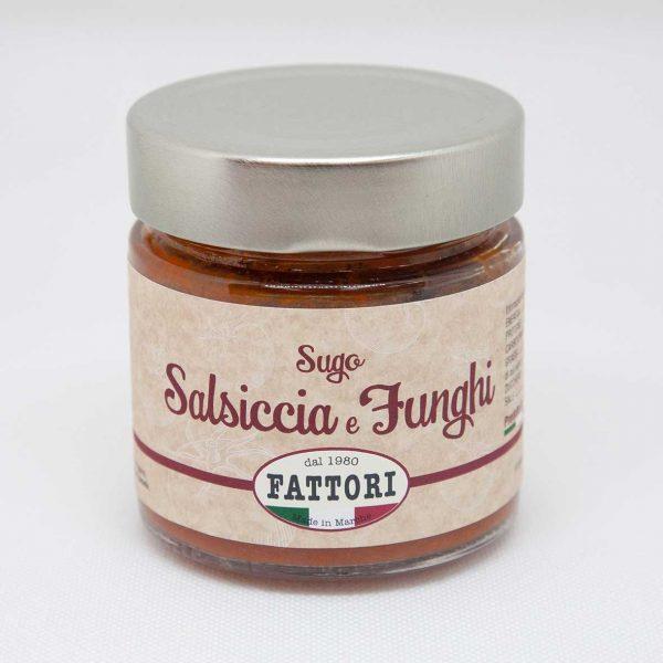 Mushrooms and sausage sauce Fattori 185 gr